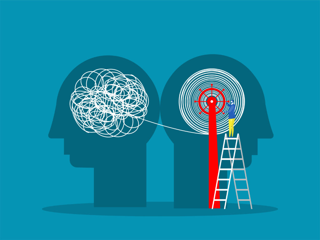 Mentor untangling mentee's doubts to give a fresh perspective